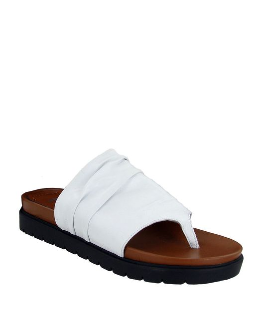 MIA | White Oasis Leather Sandals | Lyst