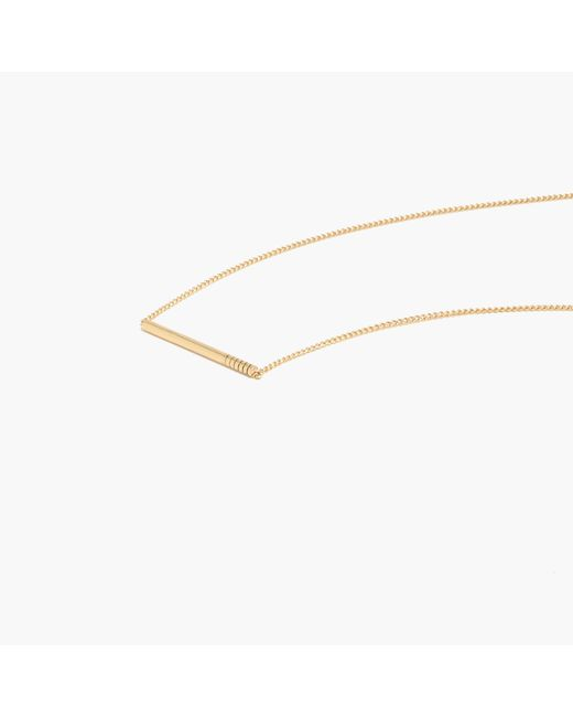 Madewell | Metallic Etched Bar Necklace | Lyst