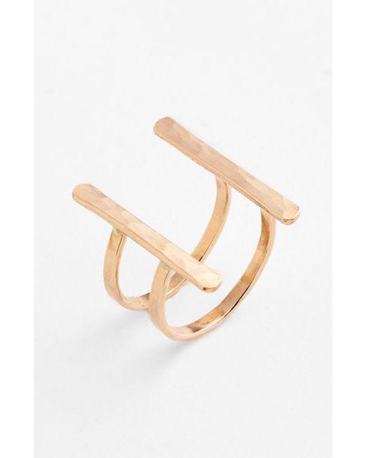 Ija | Metallic Double Bar Open Ring | Lyst