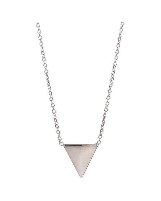 Adina Reyter | Metallic Tiny Solid Triangle Necklace In Silver | Lyst