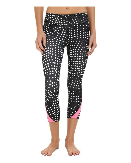 Under Armour | Black Take A Chance Printed Capri | Lyst