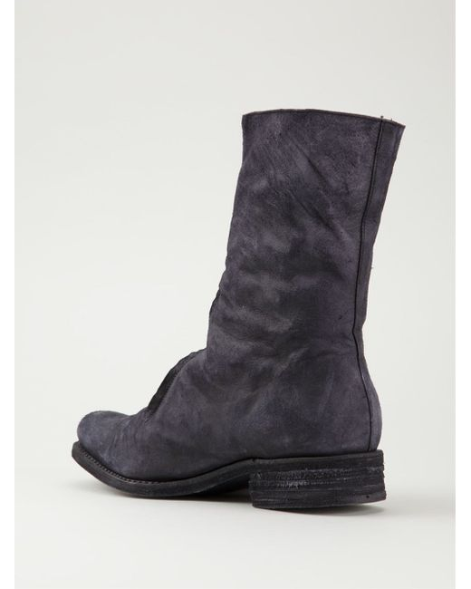 a diciannoveventitre distressed boots in black for
