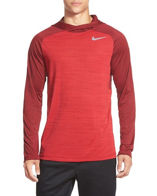 Nike | Red 'windrunner' Dri-fit Hoodie for Men | Lyst