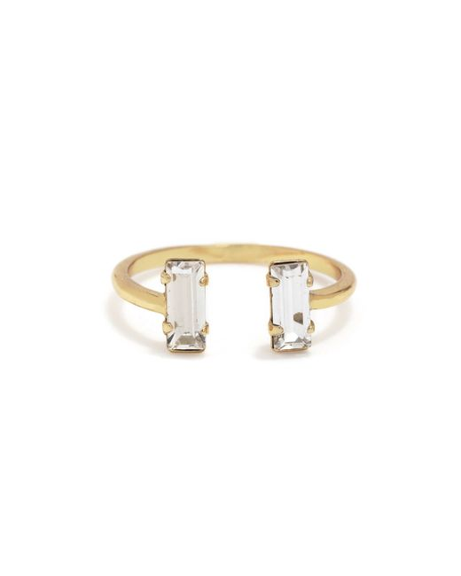Bing Bang | Yellow Double Baguette Ring | Lyst