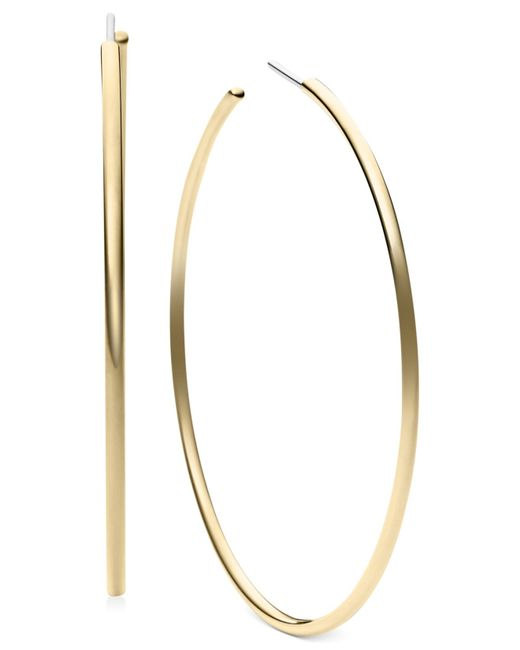 Michael Kors | Metallic Large Delicate Hoop Earrings | Lyst