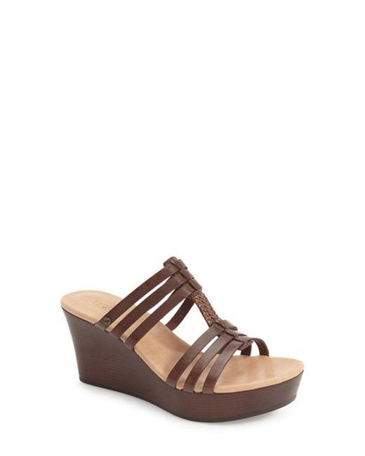 Ugg | Brown 'mattie' Wedge Sandal | Lyst