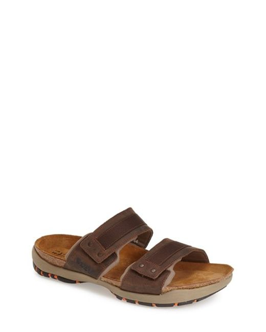 Naot | Brown 'climb' Slide Sandal for Men | Lyst