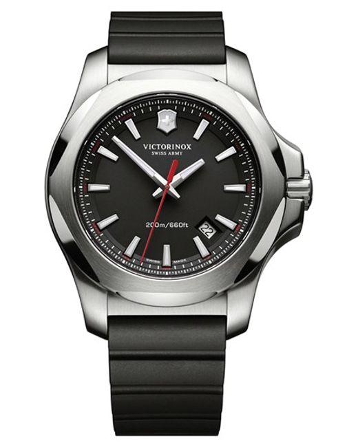 Victorinox | Black Victorinox Swiss Army 'i.n.o.x.' Rubber Strap Watch for Men | Lyst