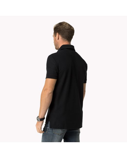 Tommy Hilfiger   Black Luxury Pique Polo for Men   Lyst