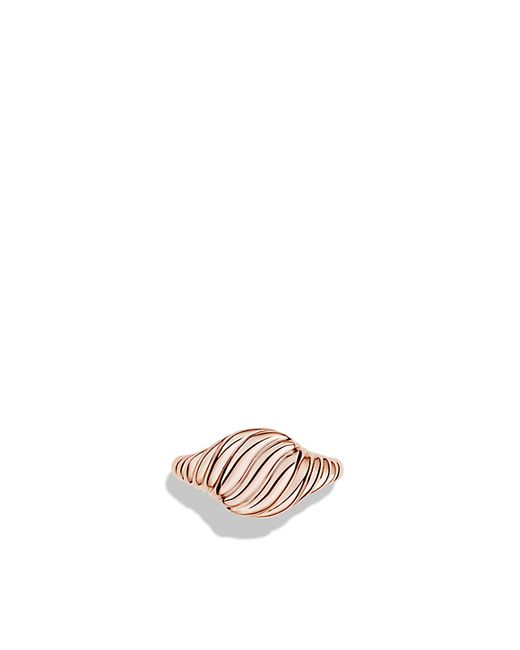 David Yurman   Sculpted Cable Mini Pinky Ring In 18k Rose Gold   Lyst