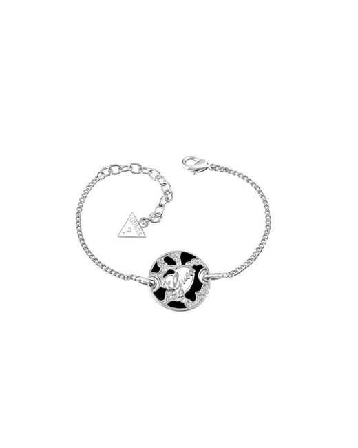 Guess | White Rhodium Plated Bracelet | Lyst