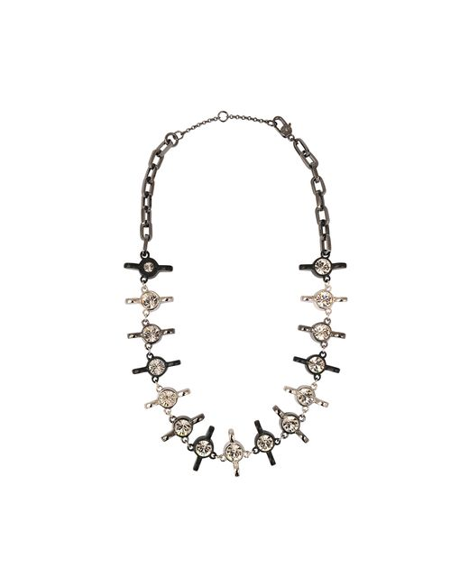 Marc By Marc Jacobs | Gray Screw It Wingnut Statement Necklace | Lyst