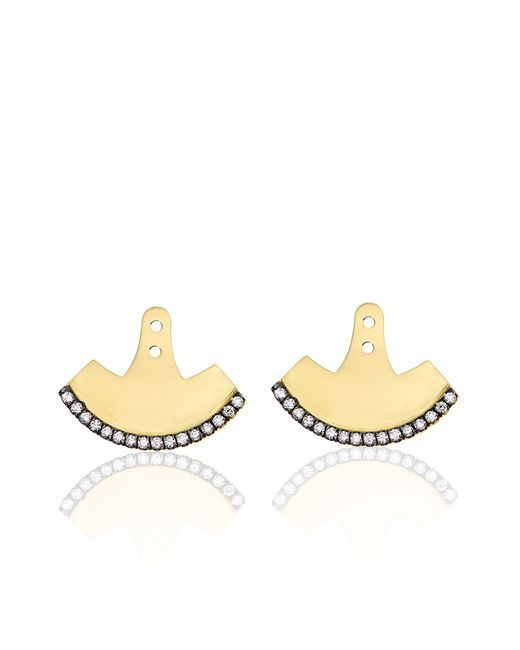 Jemma Wynne | Metallic Prive Diamond Fan Back Earrings | Lyst