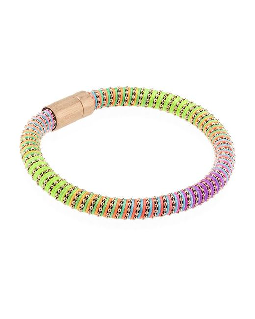 Carolina Bucci | Purple Neon Twister Bracelet Rose Gold | Lyst