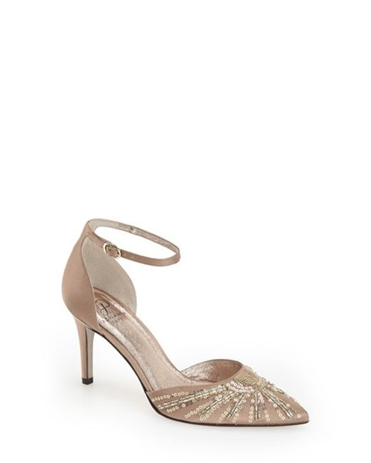 Adrianna Papell | Natural 'hollis' Embellished Pump | Lyst