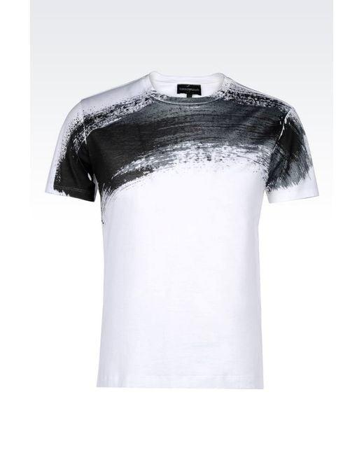 Emporio Armani | Black T-shirt for Men | Lyst