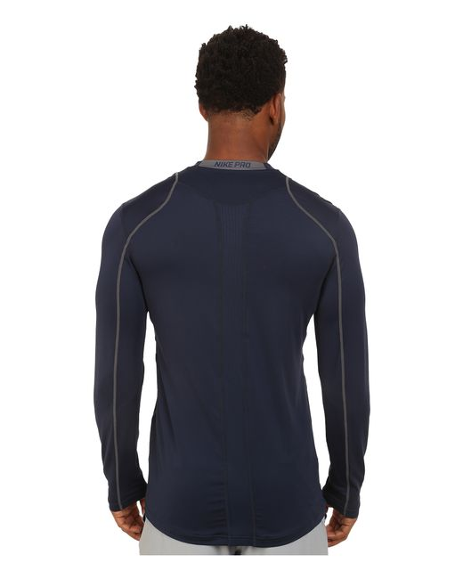 Nike   Gray Pro Cool Fitted L/s for Men   Lyst
