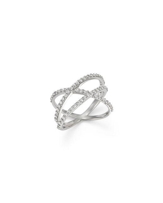 KC Designs | Diamond Criss Cross Ring In 14k White Gold | Lyst