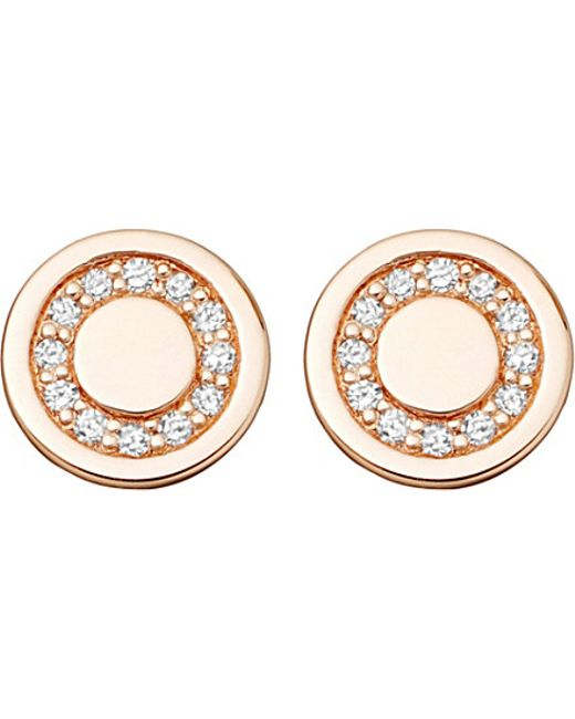Astley Clarke | Pink Mini Cosmos 14ct Yellow-gold And Diamond Stud Earrings | Lyst
