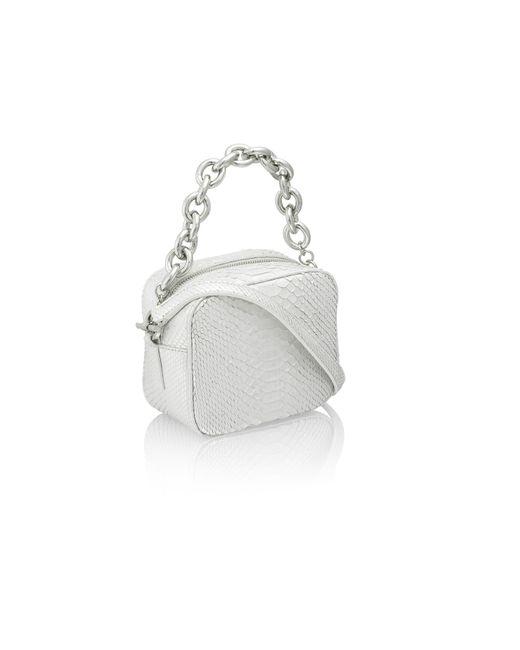 Amanda Wakeley   Metallic Jackson Silver Python Pochette Bag   Lyst