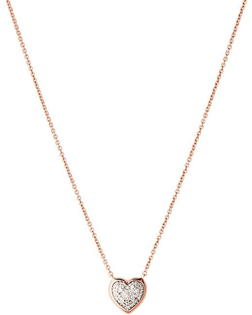 Links of London   Metallic Diamond Essentials 18ct Rose-gold Pave Necklace   Lyst