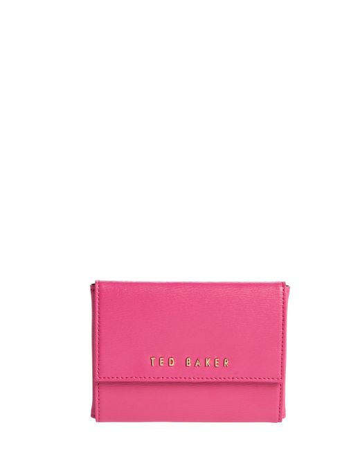 Ted Baker   Pink Crosshatch Leather Purse   Lyst