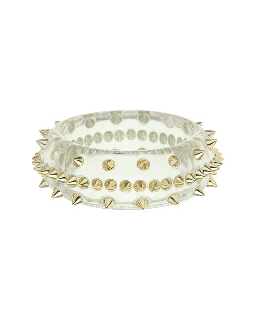 Mikey | White Spike Bangle | Lyst