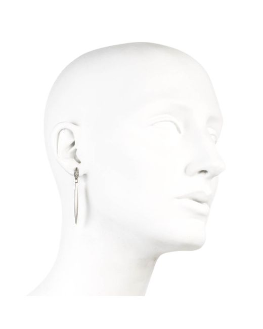 Alexis Bittar | Metallic Silver Lake Marquis Elongated Drop Earring You Might Also Like | Lyst