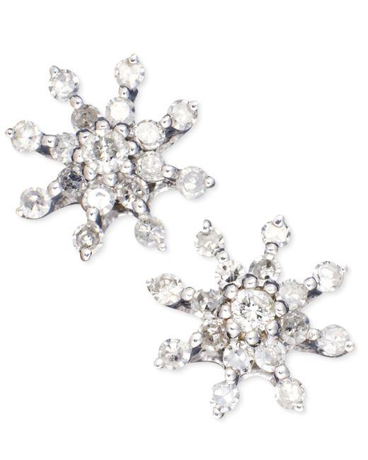 Macy's | Diamond Circle Stud Earrings In 14k White Gold (3/4 Ct. T.w.) | Lyst