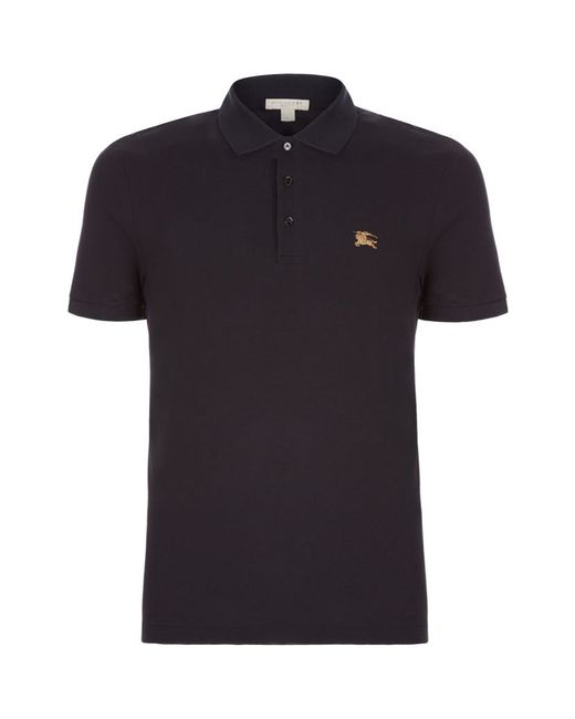 Burberry Brit Metal Logo Polo Shirt In Black For Men Lyst