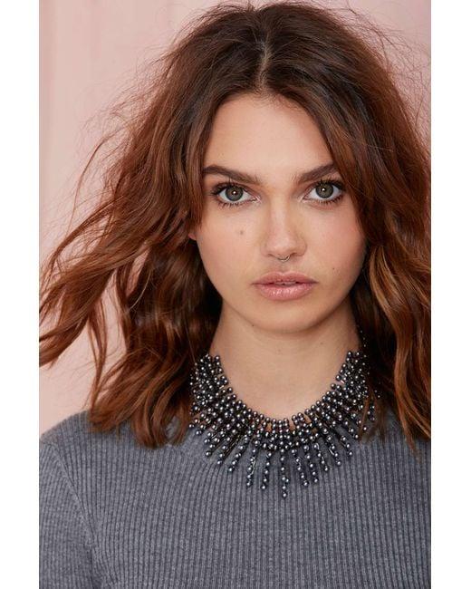 Nasty Gal   Metallic Leanna Collar Necklace   Lyst