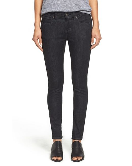 Eileen Fisher | Black Stretch Skinny Jeans | Lyst