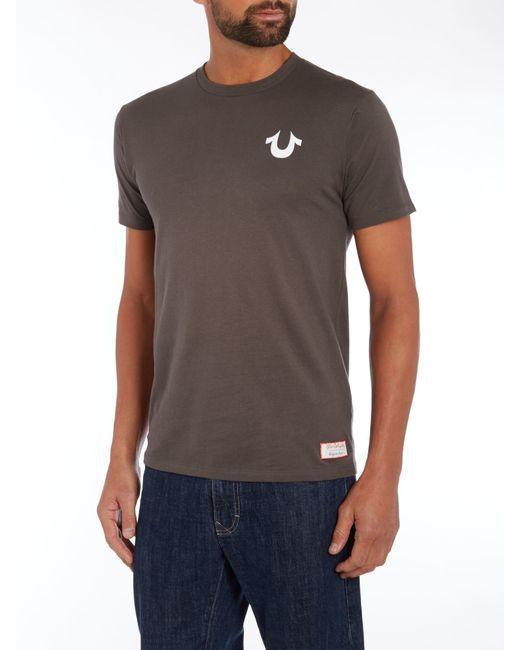 True Religion   White Regular Fit Traditional Logo T Shirt for Men   Lyst