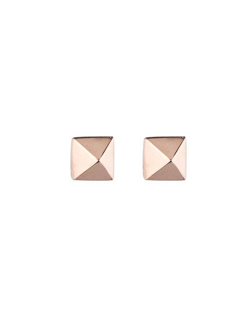 Eddie Borgo | Pink Pyramid Studs In Rose Gold | Lyst