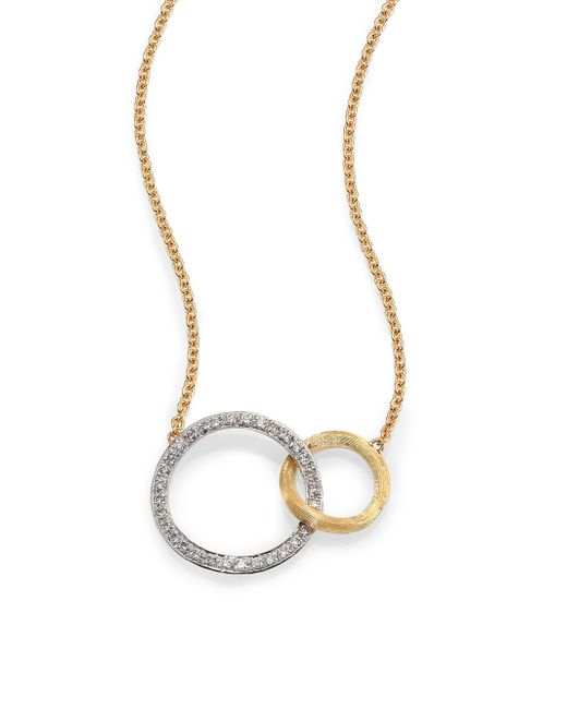 Marco Bicego   Metallic Jaipur Link Diamond, 18k White & Yellow Gold Necklace   Lyst