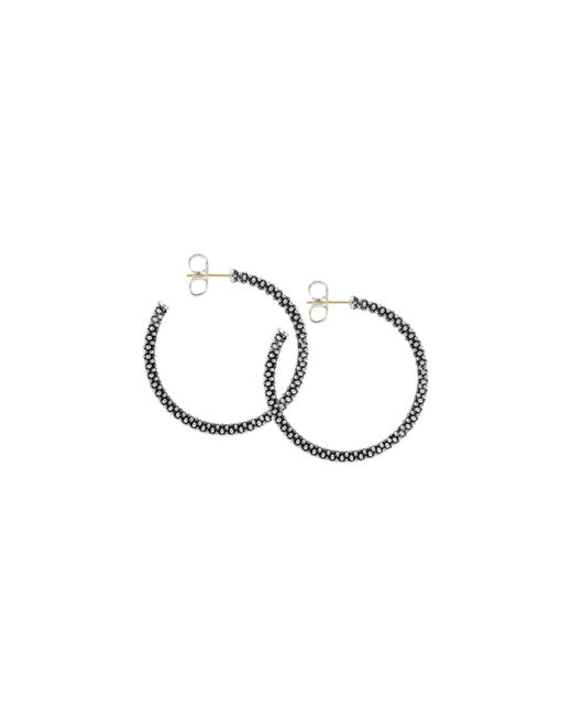 Lagos | Metallic Thin Caviar Hoop Earrings | Lyst