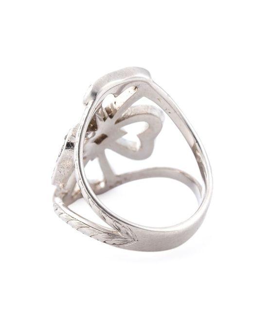 Loree Rodkin | Metallic Diamond Maltese Cross Midi Ring | Lyst