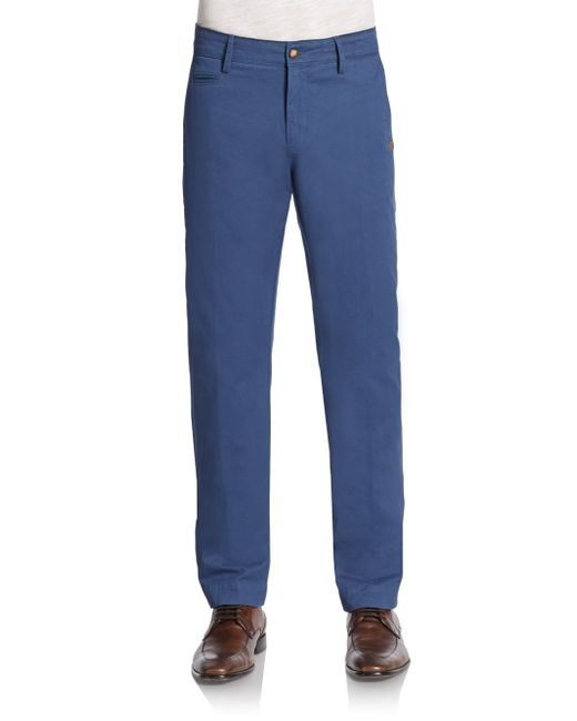 Sand | Blue Stretch Cotton Chino for Men | Lyst