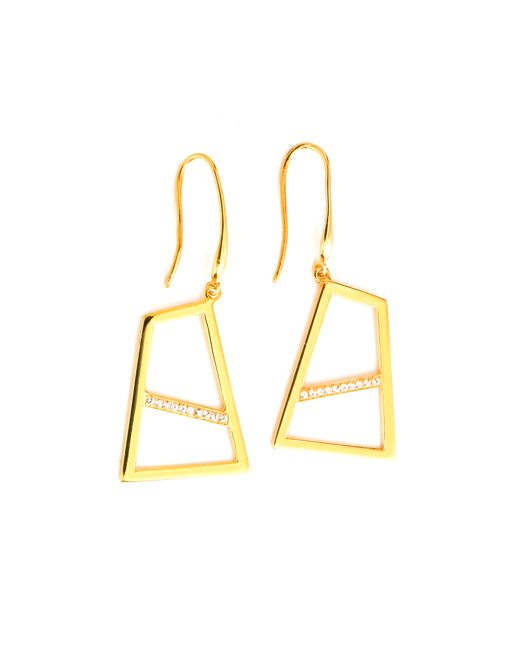Ona Chan | Metallic Double Drop Earring With Sapphire Gold | Lyst