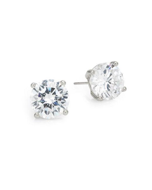 Saks Fifth Avenue | Metallic Round Stud Earrings/silvertone | Lyst