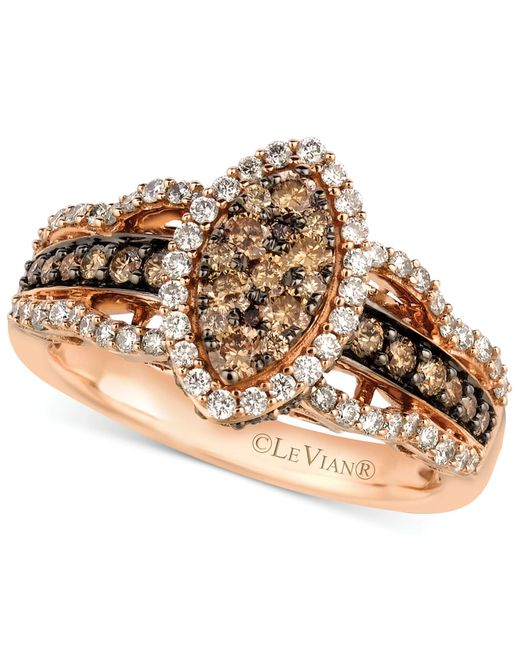 Le Vian | White And Chocolate Diamond Ring In 14k Rose Gold (1-1/4 Ct. T.w.) | Lyst
