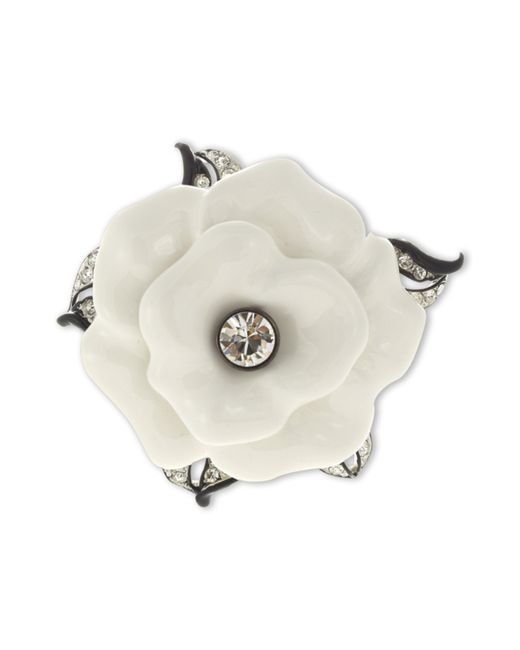 Kenneth Jay Lane | White Flower Brooch | Lyst