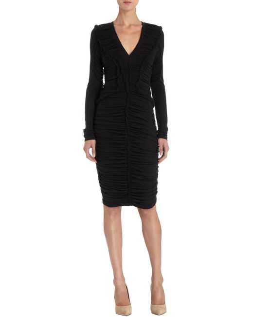 Givenchy | Black 3/4 Length Dress | Lyst