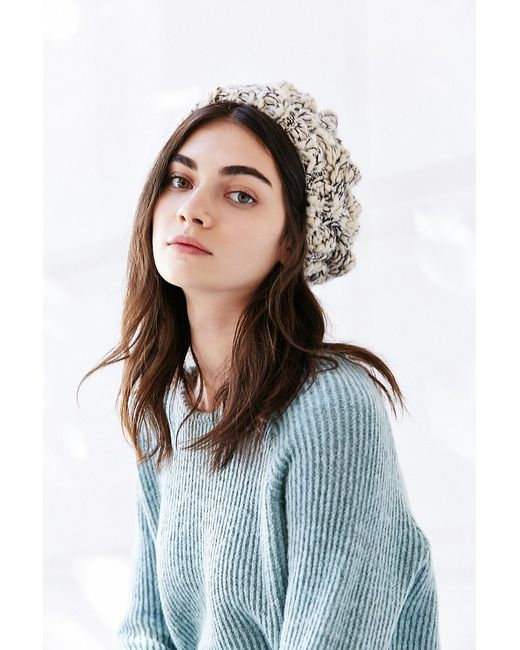 Urban Outfitters | Natural Braided Cable Beret | Lyst