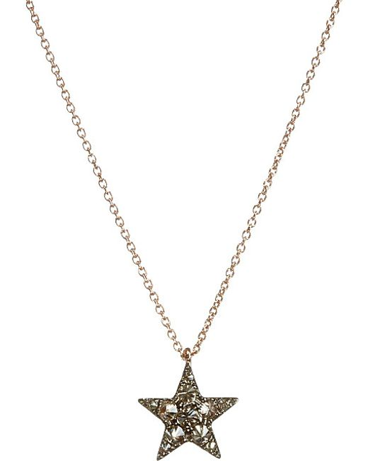 Annoushka | Brown Love Diamonds 18ct Yellow-gold Anchor Pendant Necklace | Lyst