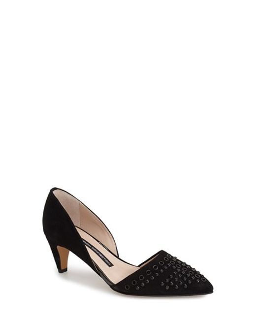 French Connection | Black 'kodee' Grommet D'orsay Pump | Lyst