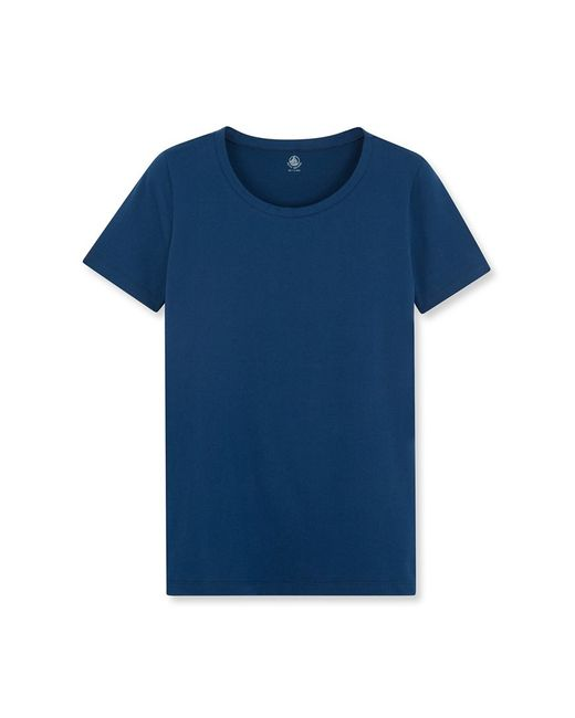 Petit Bateau | Blue Women's Round Neck Tee In Loose Cotton | Lyst