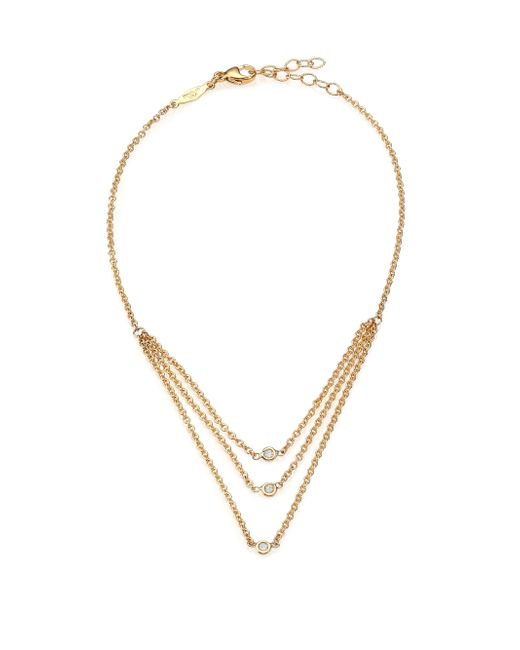 Jacquie Aiche | Metallic Diamond & 14k Yellow Gold Draped Three-strand Anklet | Lyst