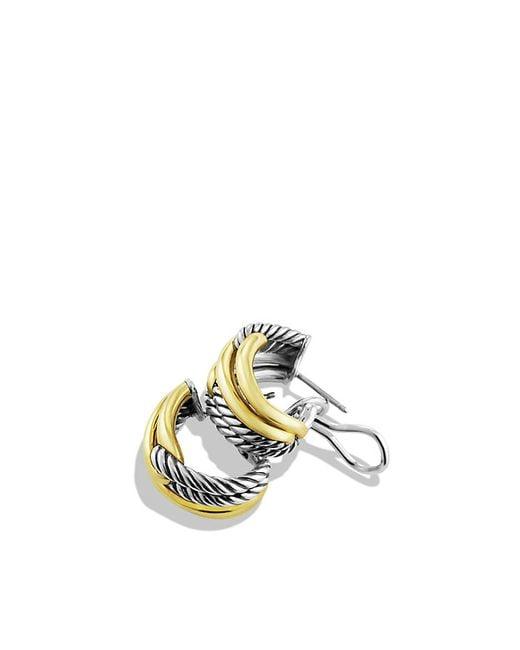 David Yurman | Metallic Labyrinth Double-loop Earrings With 18k Gold | Lyst