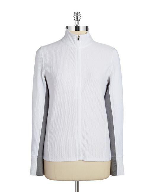 Calvin Klein | White Honeycomb Zip Jacket | Lyst